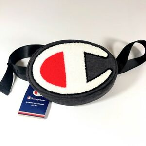 Champion-Life-Prime-Waist-Pack-Dark-Grey-White-Red-CH1056-020-Fanny-Pack-NWT