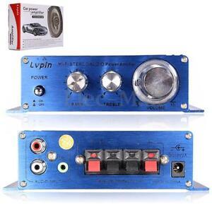12v mini hi fi 2 ch stereo audio amplifier bass subwoofer. Black Bedroom Furniture Sets. Home Design Ideas