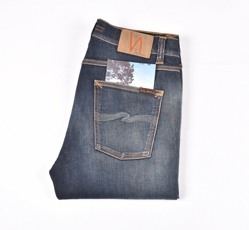 NUDIE JEANS Lean Dean Str Fa 16 bluee men Jeans Size 29 32