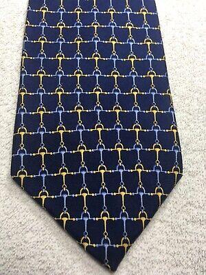 Aktiv Jones New York Herren Krawatte Marineblau Mit Blau Und Gold 4 X 61 Feine Verarbeitung