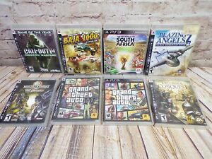 PS3 Game Lot - 8 Games - Call Of Duty, Blazing Angels, Baja 1000, Mortal Kombat