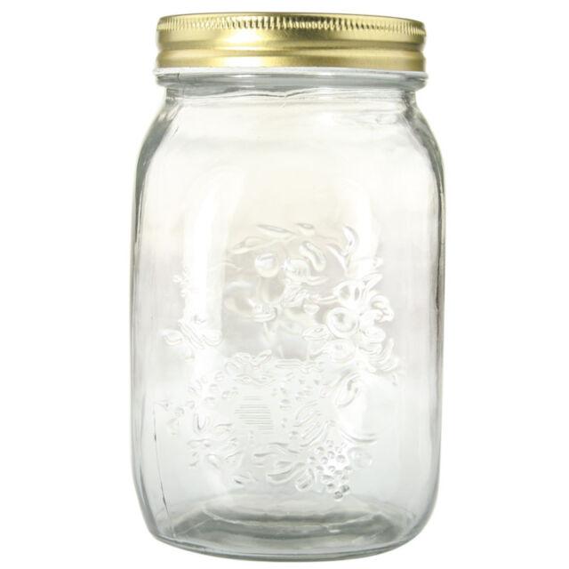 6 x 1Litre Large Preserve Jars Glass Jars Conserve - Jam Sauces Chutney Conserve
