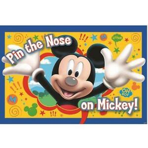 Disney Quot Mickey Mouse Quot Quot Pin The Nose On Mickey Quot Party Game