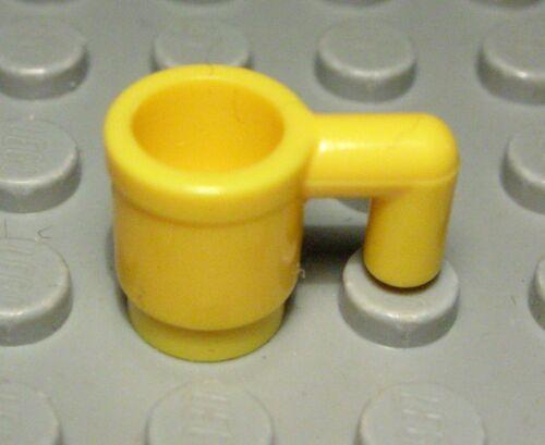 1064 # Lego Figur Zubehör Tasse Gelb Friends 2 Stück