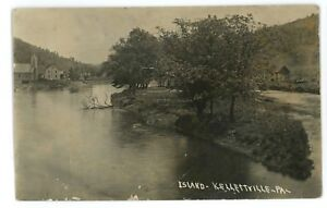 RPPC-Island-at-KELLETTVILLE-PA-Forest-County-Pennsylvania-Real-Photo-Postcard