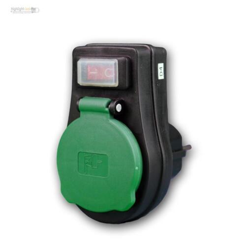 mit Kinderschutz für Außen 3680 Watt 230V IP44 EIN//AUS Steckdosen-Schalter
