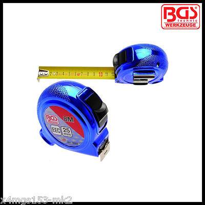 BGS - Retractable Tape Measure 8 M x 25 mm - Metric Only - Pro Range - 8392