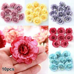 10PCS-Floral-Heads-Silk-Rose-Artificial-Flowers-Fake-Bouquet-Wedding-Home-Decor