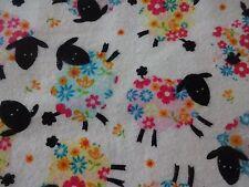 "Precious ""FLORAL SHEEP"" Handmade Cotton Flannel Pillowcase Standard/Queen"