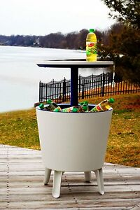 Mesa nevera para jard n mueble bar hielera exterior bebida - Mueble para nevera ...