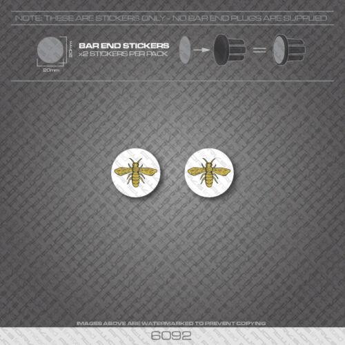 Sun Wasp Bicycle Handlebar Bar End Plug Stickers Decals 6092