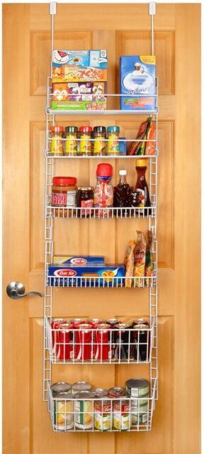 Door Pantry Organizer Kitchen Hanging Rack Storage Cabinet Spice Shelf Can Food
