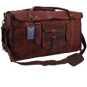 24-034-x10x10-Mens-Vintage-Genuine-Leather-Flap-Duffel-Carry-On-Weekender-Travel-Bag