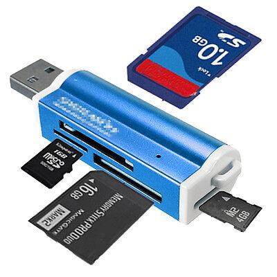 Tout en 1 USB 2.0 Lecteur de Carte Mémoire Micro SD TF M2 MMC MS PRO Duo SDHC DV