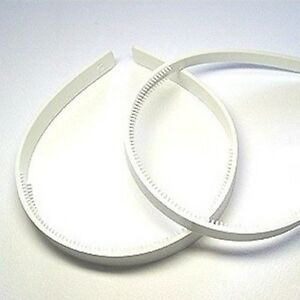 """10mm (3/8"""") white plastic headbands with teeth hair accessories wholesale lots"""