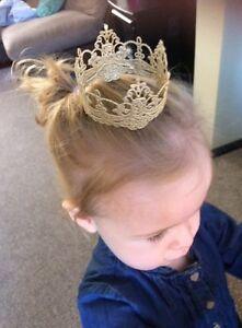 Remarkable Gold Silver Lace Crown Baby Photo Shoot Cake Smash Prop Cake Short Hairstyles Gunalazisus