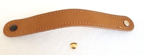 Leather Rich Caramel handle hole centres 178mm x 25mm wide 3 SCREW COLOURS