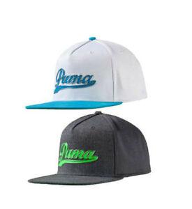 419300cc441 PUMA Golf Youth Jr Kids SCRIPT SNAPBACK Cap Hat Flat Brim Rickie ...