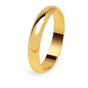 Fede Nuziale UNOAERRE 5 grammi Fascia larga Oro giallo Classica Matrimonio