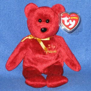 MINT with MINT TAGS TY I Love Wisconsin the Bear BEANIE BABY