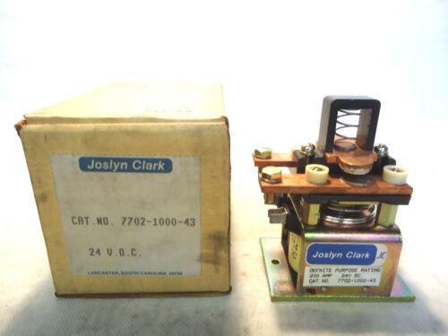 NEW IN BOX JOSLYN CLARK 7702-1000-43 200 AMP 24 V.D.C. CONTACTOR