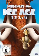 ICE AGE 1-4 Mammut-Box (4 DVDs) NEU+OVP