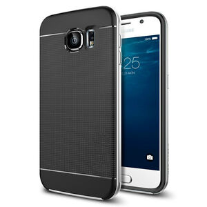 best sneakers 65526 0614a Details about FOR SAMSUNG GALAXY S6 EDGE STEALTH SILVER NEO HYBRID  SHOCKPROOF PHONE COVER CASE