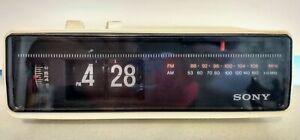Vintage-Sony-ICF-C310W-Digimatic-Flip-Clock-Radio-AM-FM-Radio-Works