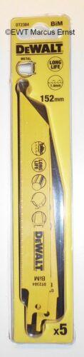 DeWALT Säbelsägeblatt für Metall DT2384 152mm 5 Stück DT 2384