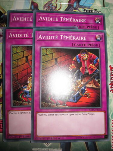 COM PLAYSET AVIDITE TEMERAIRE SDPL-FR038 EDITION 1 NEUF LOT DE 4 YU-GI-OH
