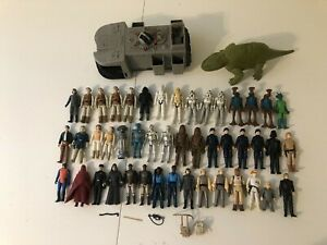VINTAGE-1977-1984-STAR-WARS-FIGURE-LOT-OF-46-FIGURES-amp-SOME-WEAPONS-BULK-PRICE