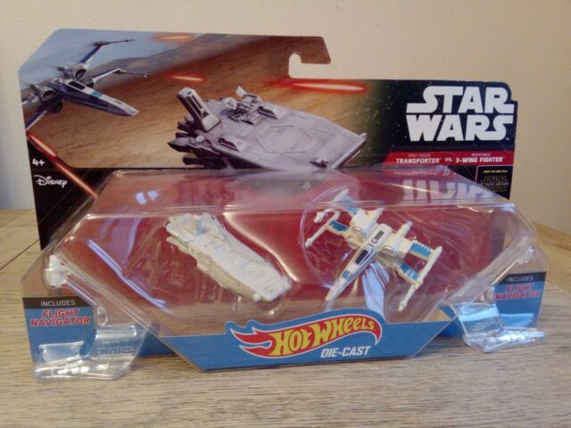 Star Wars Transporter VS XWing Fighter Boxed Hot Wheels Diecast Vehicles.