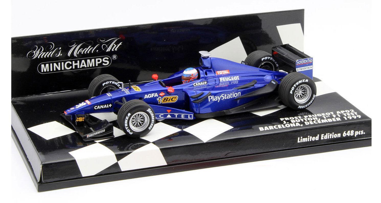 Minichamps Prost AP02 1st F1 Test Barcelona 1999 - Jenson Button 1 43 Scale