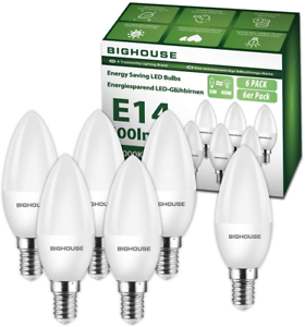 E14 LED Candle Bulbs 5W 400lm 3000K Warm of 40W Incandescent Bulb Equivalent