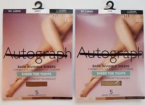 M-amp-S-Autograph-5-Denier-Bare-Invisibles-Cool-Comfort-Tights-nude-or-suntan-S-L-XL