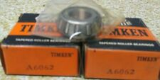 Timken A6062 Roller Bearing Cone Lot Of 2 Nos