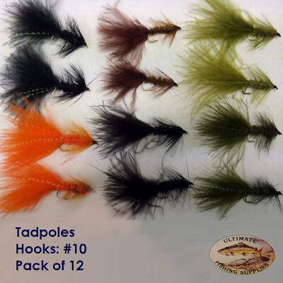 Pack of 10 Mixed #12 UFS Fly Pack Bushy Bob Dry
