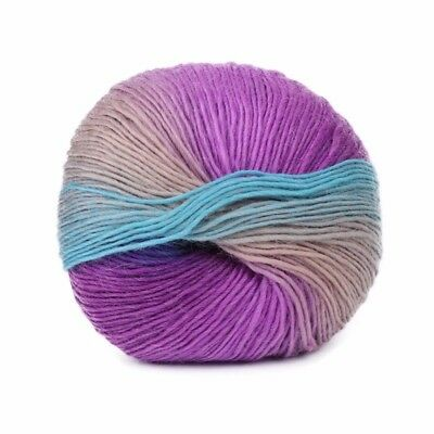 1Ball 50g Hand-woven Rainbow Colorful Crochet Cashmere Wool Blend Yarn Knitting