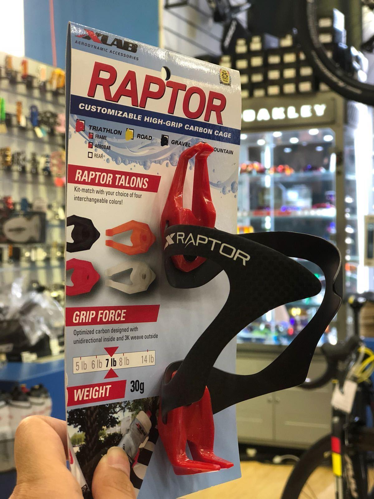 XLab Raptor Bottle Cage Carbon Red