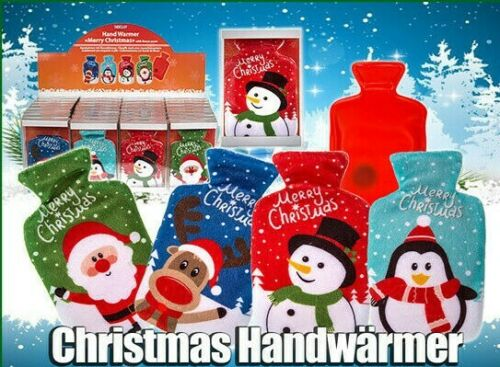 3x CHRISTMAS HAND WARMERS Cold Winter Glove Warm Hands Fleece Cover Star Gift