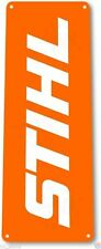 "TIN SIGN ""Stihl Orange"" Mechanic Chainsaw Power Tools Toolbox Garage Shop B098 #"