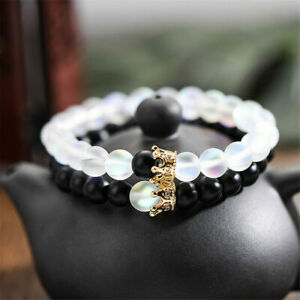 2X-Charm-King-Queen-Crown-Couple-Bracelets-His-And-Her-Friendship-Beads-Bracelet
