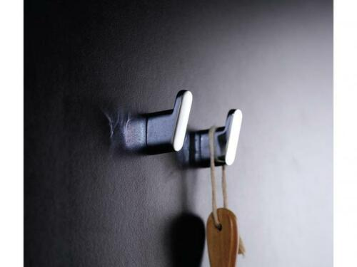 Milli GLANCE ROBE HOOK 48x15mm Can Hold Up To 80kg Matte Black Or Chrome