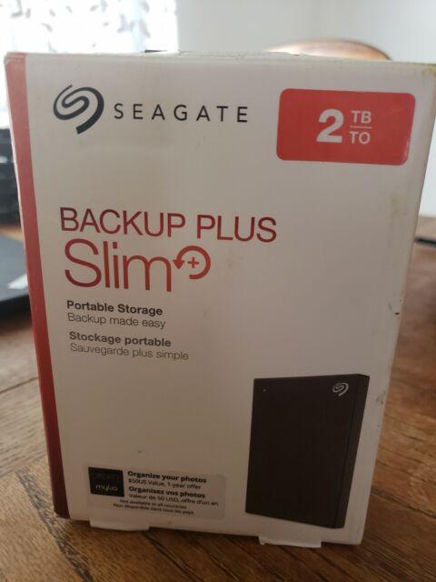 Seagate Backup Plus Slim 2TB External Hard Drive Portable HDD – Black USB 3.0