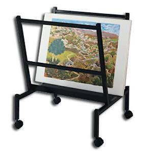 Art Print Amp Poster Display Rack V Bin Style Holds 25