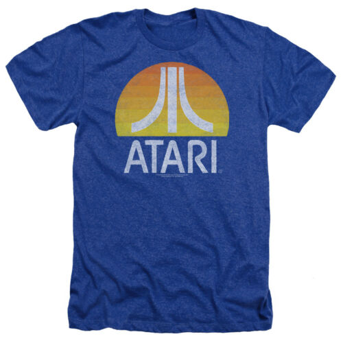 Atari SUNRISE LOGO ERODED Vintage Style Licensed Adult Heather T-Shirt All Sizes