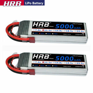 2XHRB-5000mAh-3S-11-1V-LiPo-Battery-50C-Deans-for-RC-Car-Truck-Buggy-Boat-Plane