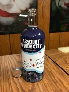 Details about ABSOLUT VODKA EMPTY WINDY CITY LIMITED EDITION BOTTLE