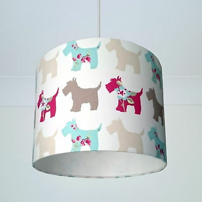 Lamp Shade Scottie Dog Fabric