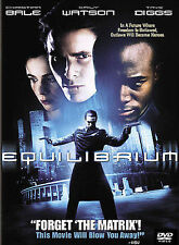 Equilibrium, Very Good DVD, Christian Bale, Emily Watson, Taye Diggs, Angus Macf